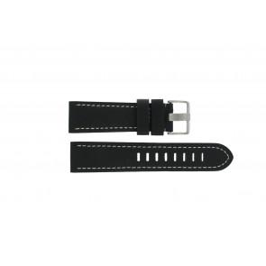 Horlogeband Prisma ZWST23 Leder Zwart 24mm